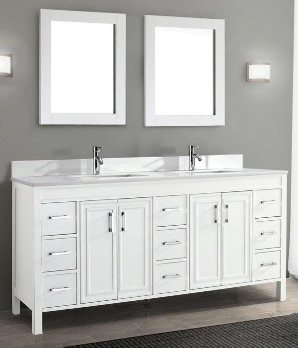 Costco Wholesale Double Sink Vanity Master Bathroom Vanity