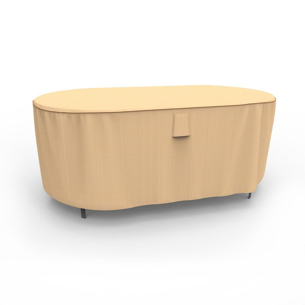 Budge Sedona X Large Tan Outdoor Oval Patio Table Cover Products