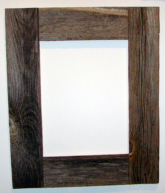 Authentic Barn Wood Frame 8 X 10 Inch With White Matting To 5 X 7 Inch Picture Recycled Repurposed Reclaimed Vintage Farmhouse Frames Barn Wood Frames Old Barn Wood Barn Wood