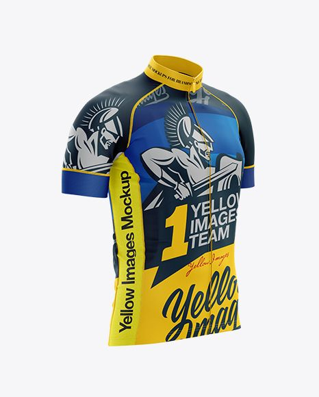 Download Free Mockups Men s Cycling Jersey mockup (Right Half Side ...