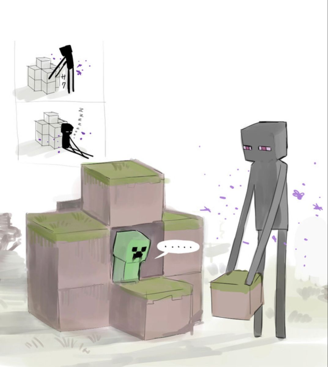 I will build your house  Minecraft drawings, Minecraft art