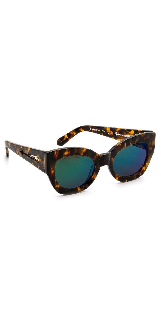 8fcbd57e637 Karen Walker Superstars Collection Northern Lights Mirrored Sunglasses