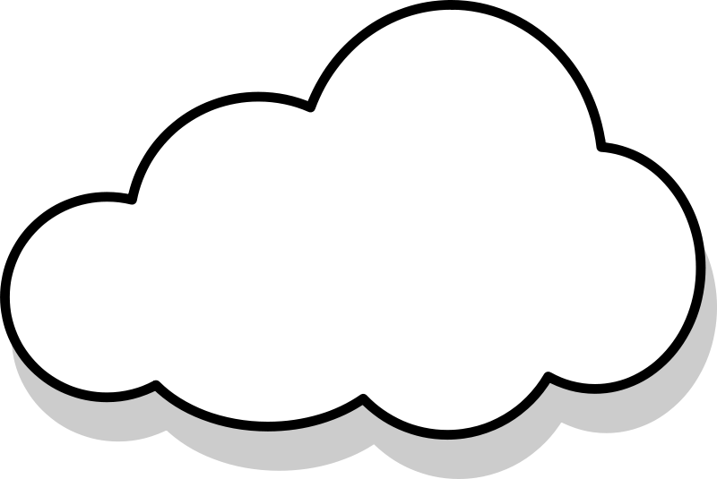 gray cloud clipart panda