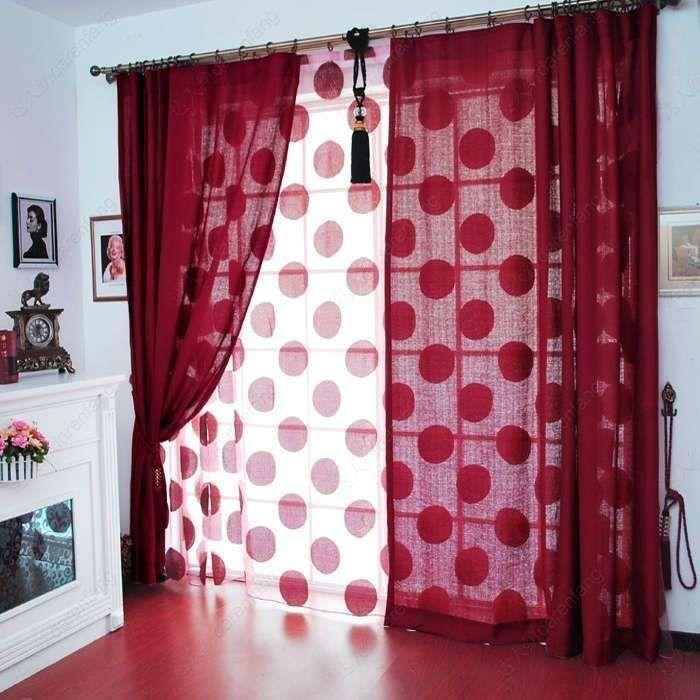per il soggiorno - tende a pois per il soggiorno - Tende Per Soggiorno Foto