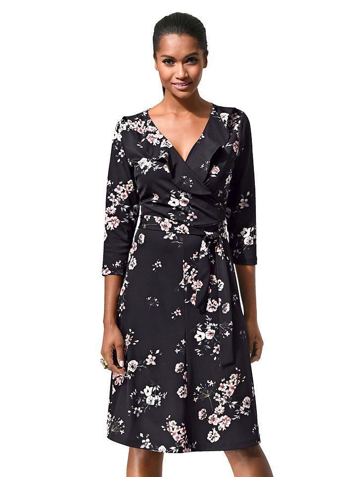 Chiffon kleid mit floralem print