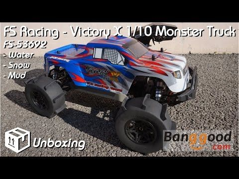 Fs Racing Fs 53692 1 10 2 4g 4wd Brushless Water Monster Truck Rc Vehicles From Toys Hobbies And Robot On Banggood Com Monster Trucks 4wd Racing