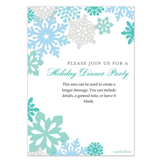 Secret Santa Gift Exchange Google Search Invitations I Like - Snowflake party invitation template