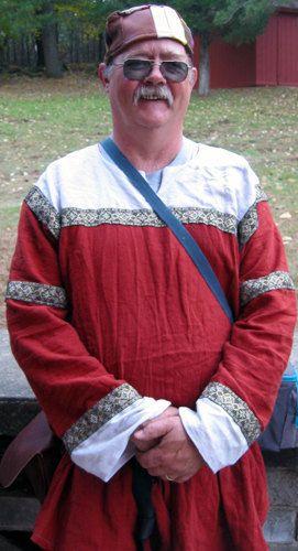 Linen Keyhole Tunic Custom Shirt Trimmed by CamelotCreationscom, $65.00