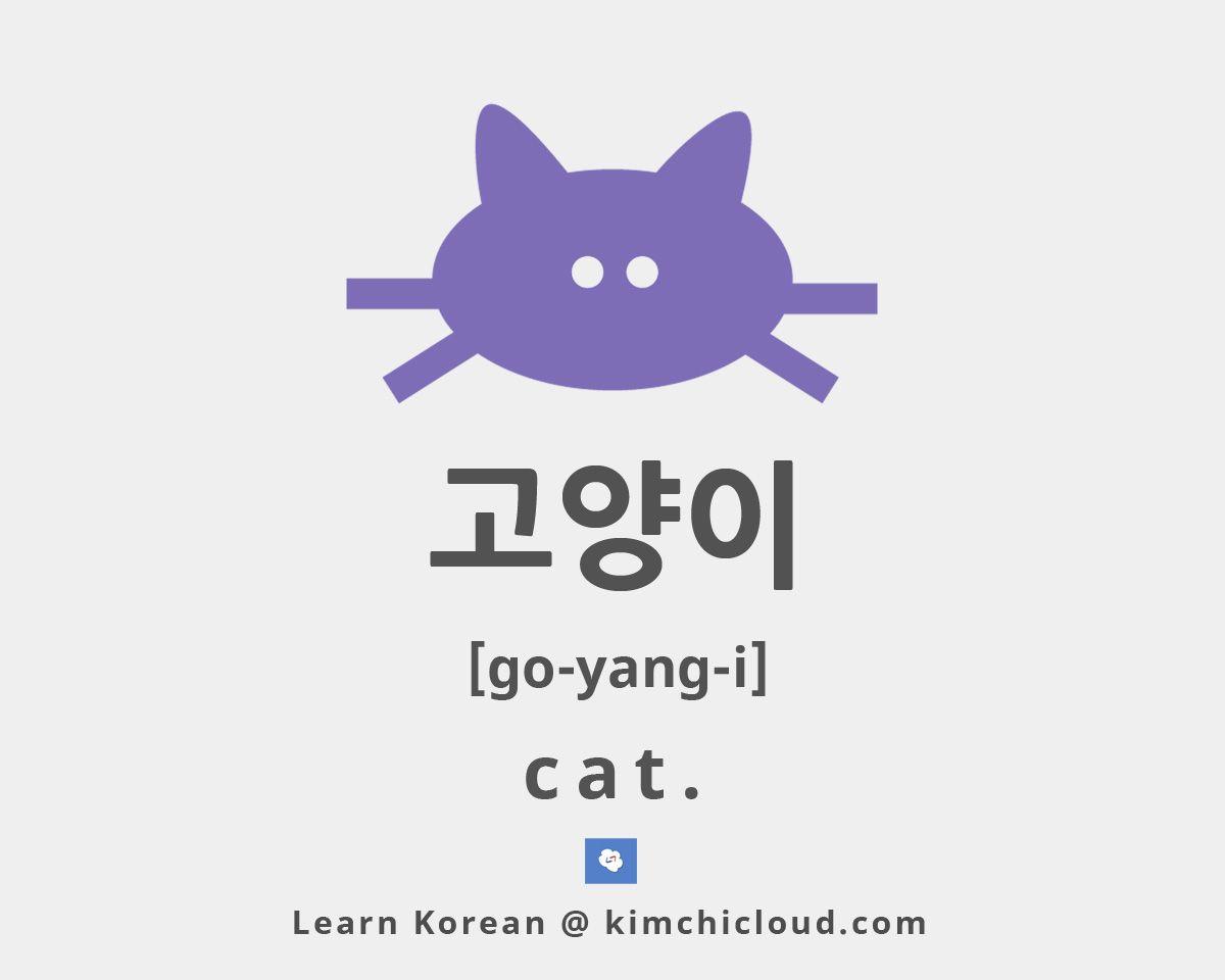 To say cat in korean you say go yang i in hangul but to say cat in korean you say go yang i buycottarizona