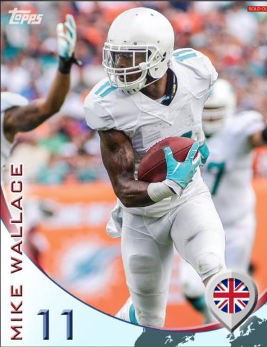 TOPPS-HUDDLE-INTERNATIONAL-INSERT-MIKE-WALLACE-MIAMI-DOLPHINS-ONLY-120-EXIST