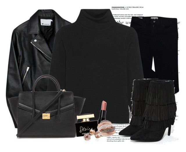 """""""Untitled #1267"""" by ekozlova ❤ liked on Polyvore featuring Tory Burch, Totême, Forever 21, Privileged, Bobbi Brown Cosmetics and Dolce&Gabbana"""