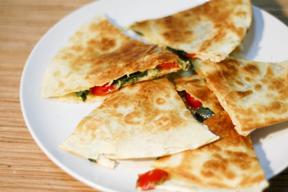 How to Make Gluten Free Cheesy Spinach Quesadillas via