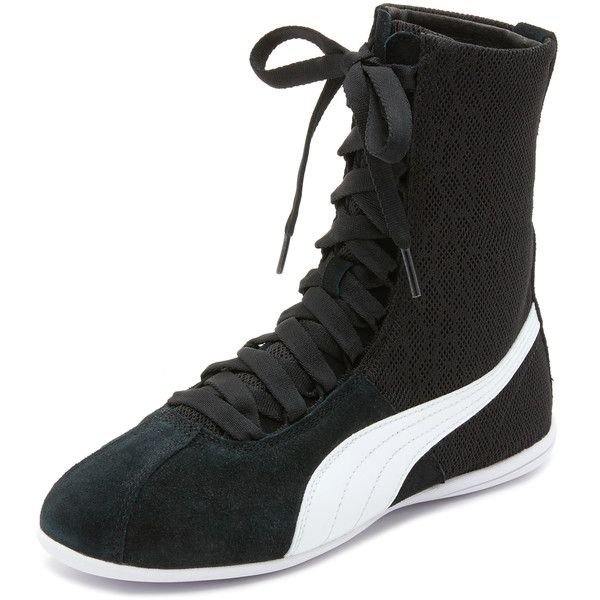 PUMA Eskiva High Top Textured Sneakers ($63) ❤ liked on Polyvore featuring  shoes,