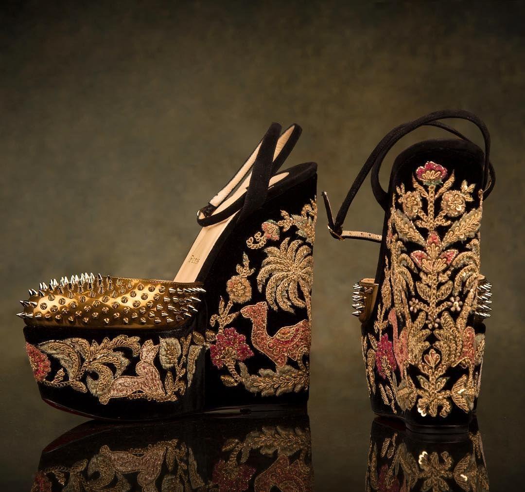 Meet Christian Louboutin and Sabyasachi Mukherjee's Heavenly Creations •  Sassy Indian Fashion