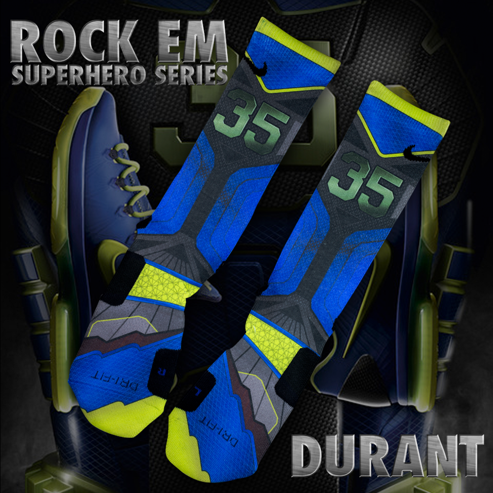 Rock Em Apparel Custom Nike Elite Socks Superhero Series