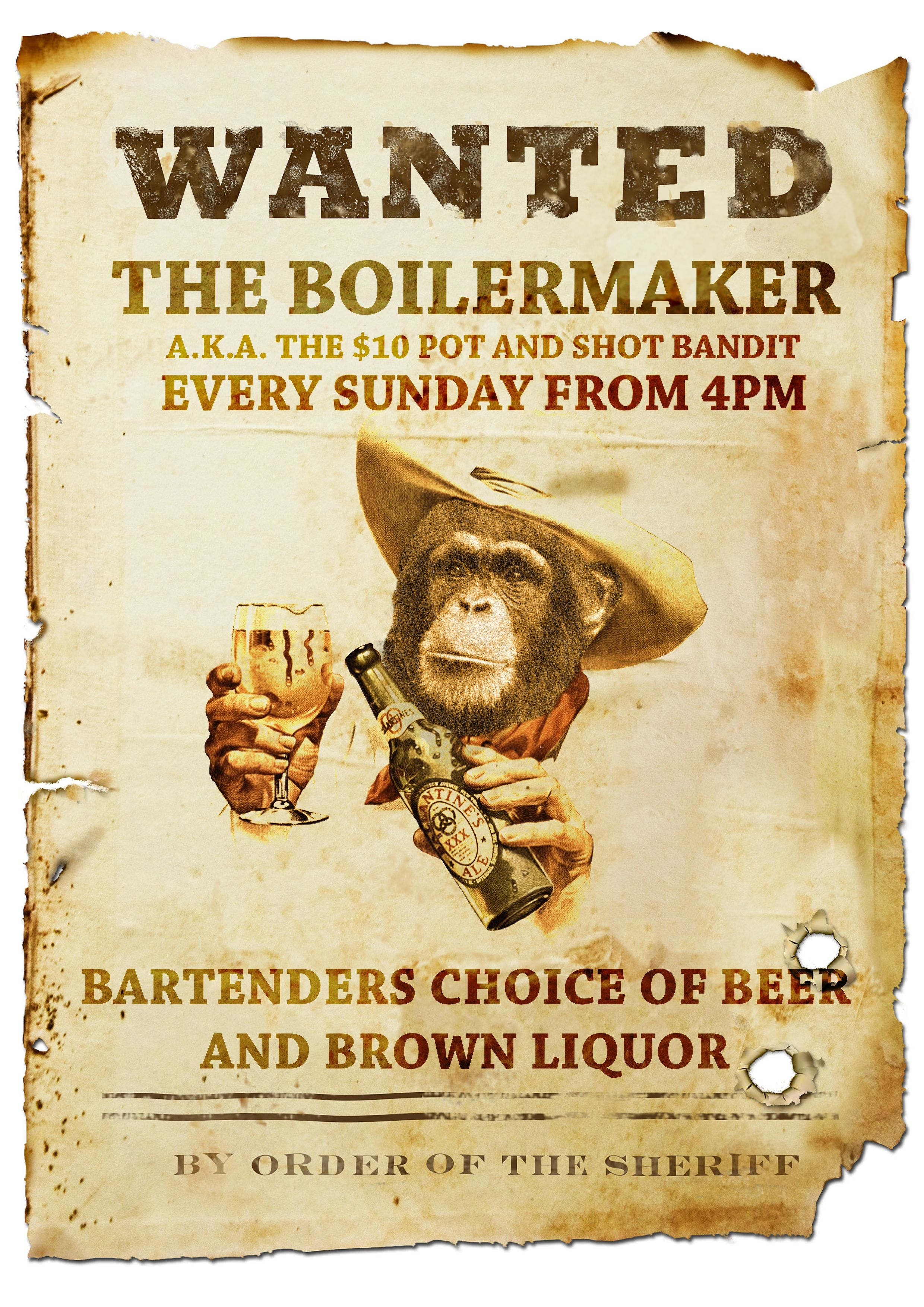 Sunday Drinks Special The Boilermaker Designed For The Brunswick Mess Hall Drink Specials Sunday Drink Specials Boilermaker