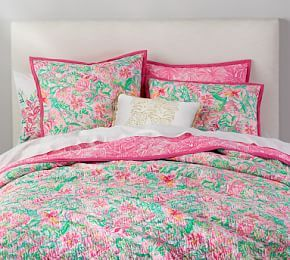 2d1fb5699e2575 Lilly Pulitzer Fan Sea Pants Reversible Cotton Quilt & Sham | Pottery Barn