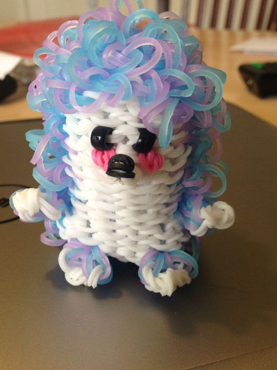 rainbow loom hedgehog made to order please specify colors. Black Bedroom Furniture Sets. Home Design Ideas