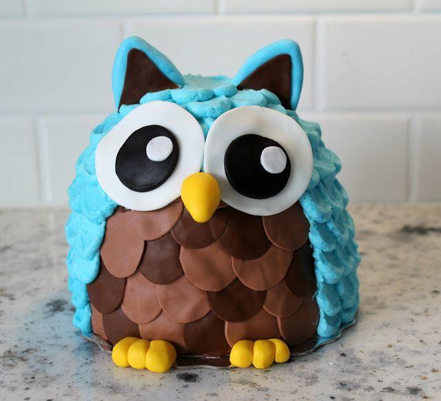 Owl Smash CakeFondant Owl Cake Topper Owl Cake birthday party girl