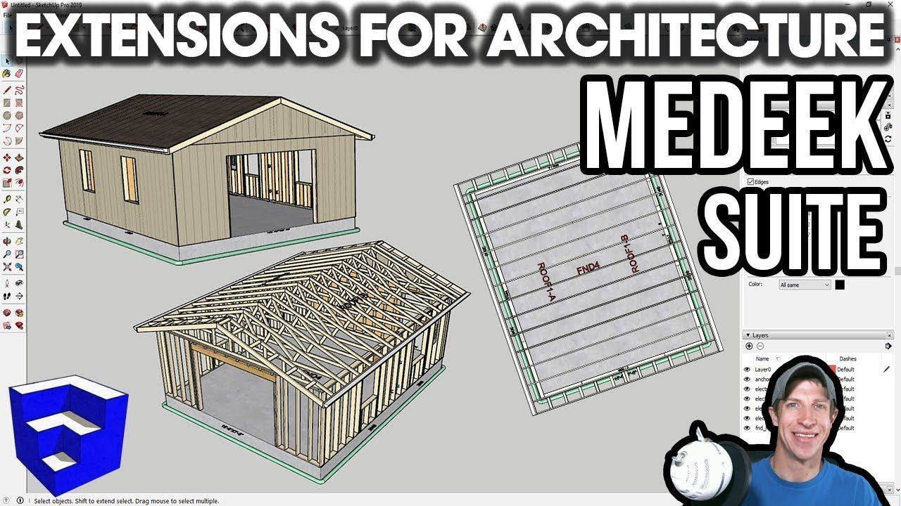 Sketchup Extensions For Architecture Detailed Buildings With Medeek Suite The Sketchup Essentials Architecture Details Suite Sketchup Model