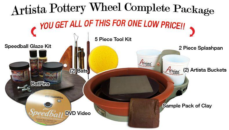 Speedball artista complete pottery wheel packagethey use