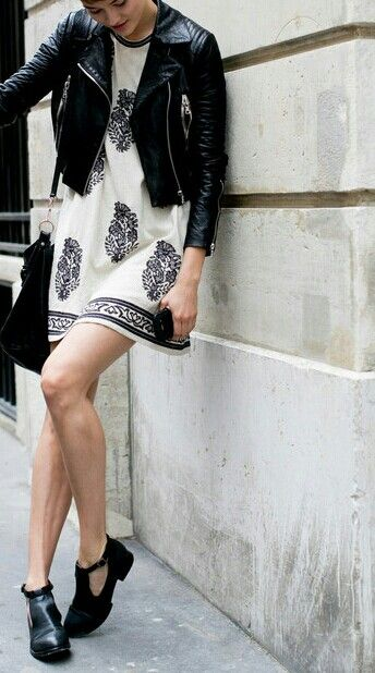Isabel marant dress and leather jacket