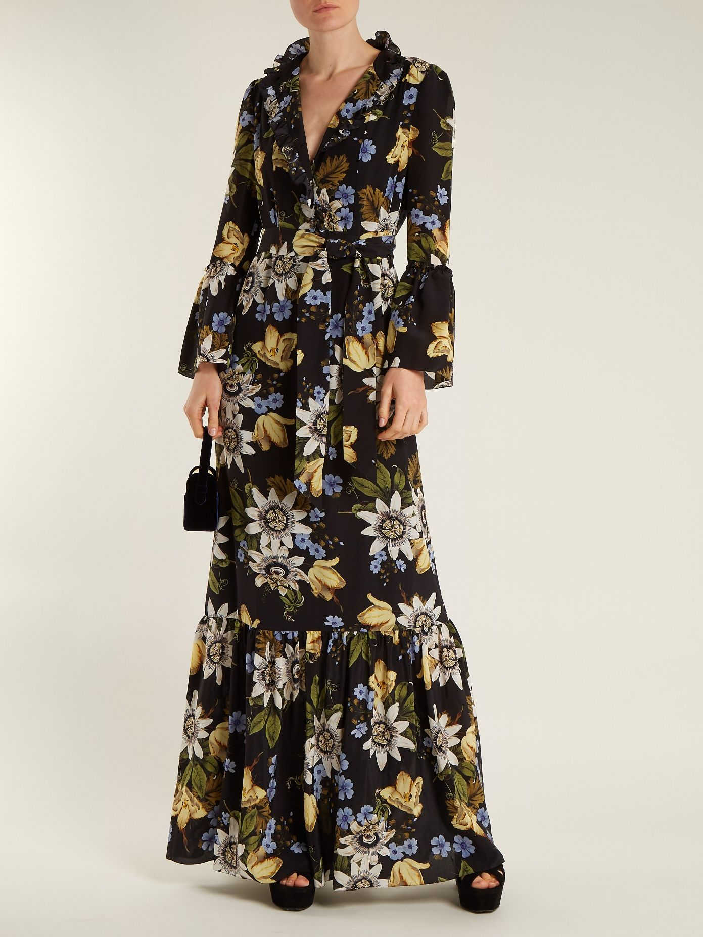 Stephanie floral-print silk crepe de Chine gown Erdem ITKgM