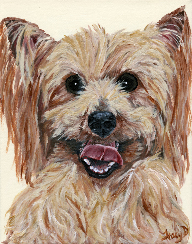 Birthday gift canvas art Christmas gift Custom dog painting pet ...