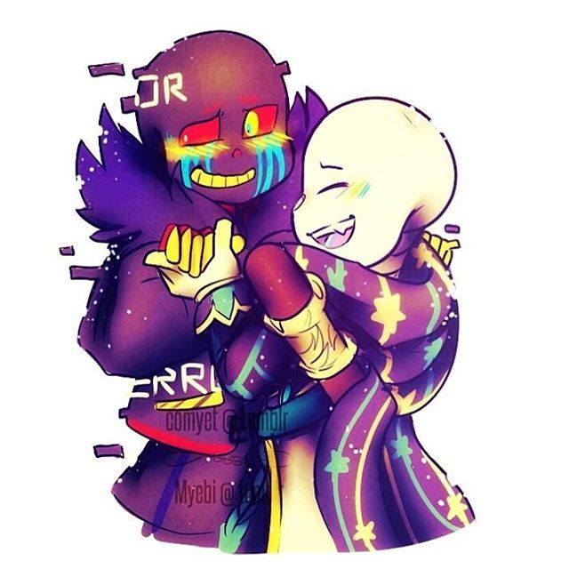 ink sans and error sans (I don't ship them, I just thought