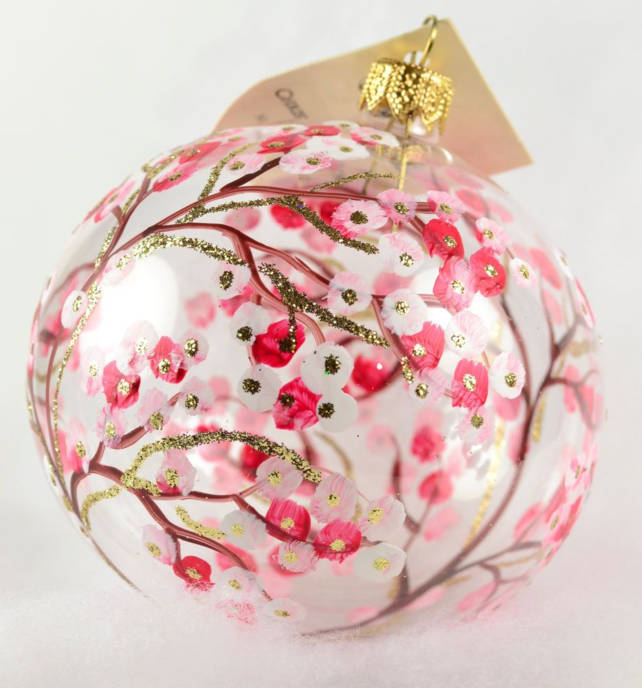 Christina\'s World Cherry Blossoms 3.5 Inch Glass Christmas Ornament ...