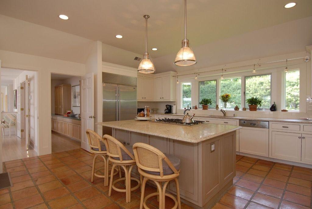 Great Modern Kitchen With Kitchen Island Simple Granite Counters In Weston Ct Kitchen Inspiration Design Brown Tile Floor Kitchen Terracotta Tiles Kitchen