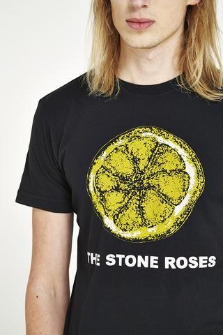 The Stone Roses 'Lemon' T-Shirt - Black