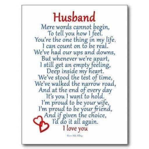 I love you husband poem