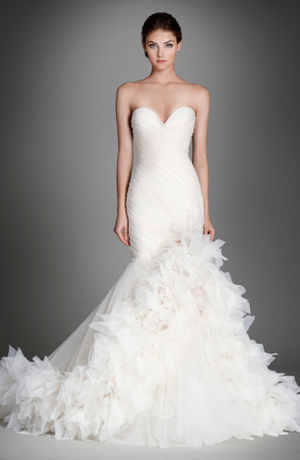 Sweetheart Fit And Flare Wedding Dress With No Waist Princess Seams In Silk Organza