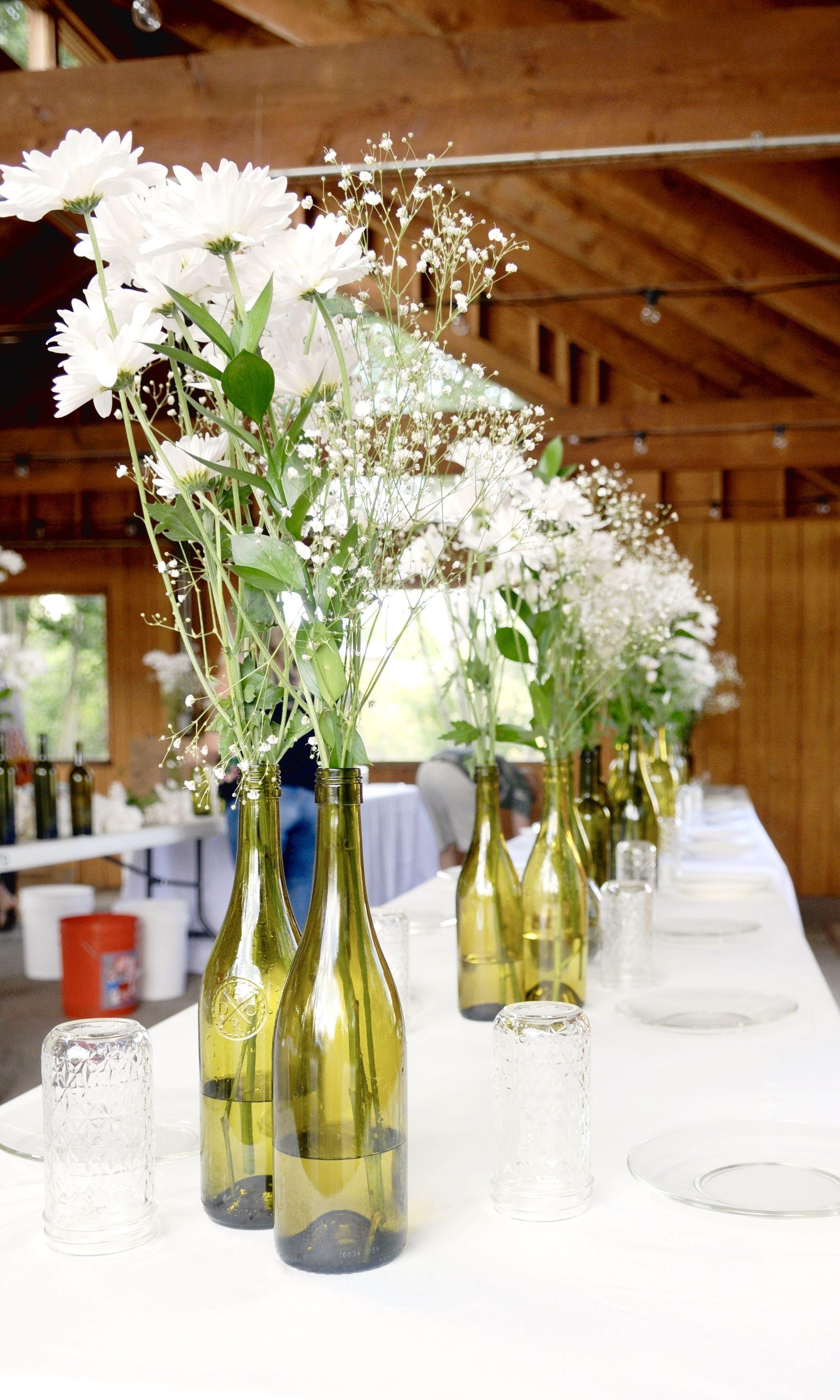 Green Wedding Ideas Wine Bottle Wedding Centerpieces Wine