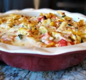 """Baked Summer Ziti: """"This was such a good meat-free dinner. Even my meat-loving hubby loved it."""" -MsSally"""