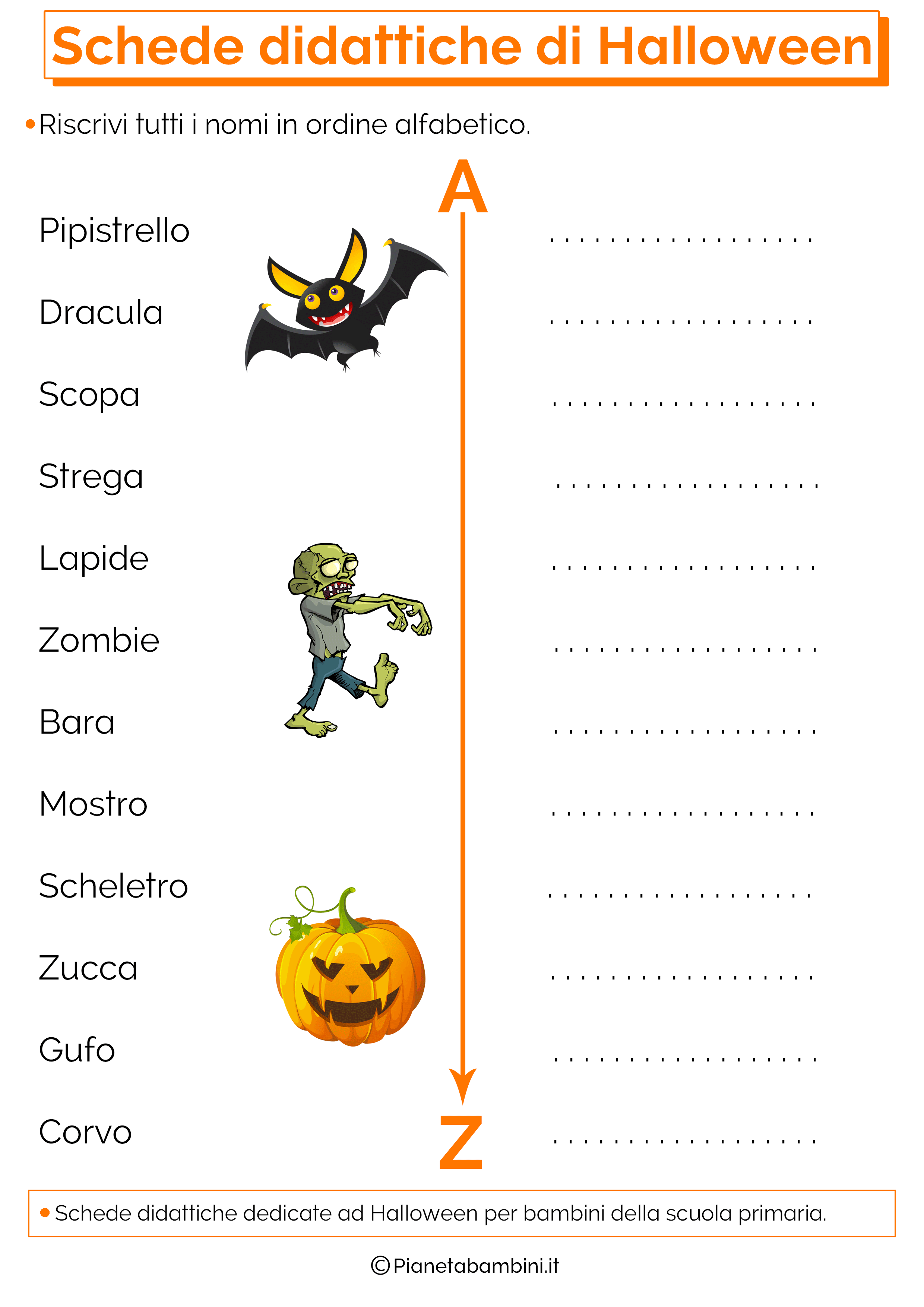 Schede Didattiche Di Halloween Per La Scuola Primaria Con