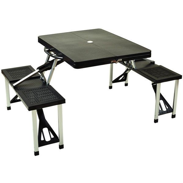 Folding Picnic Table And Bench Seats Fold Up Store Camp Benches