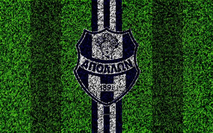 Download Wallpapers Apollon Smyrni Fc Logo 4k Football Lawn