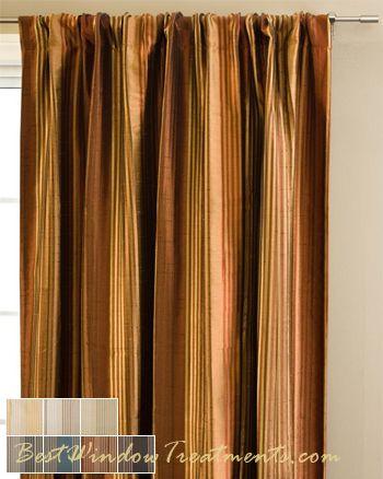 Cavalli Stripe In Sienna Rust  Copper, Gold Colors In 108 Inch And 120 Inch