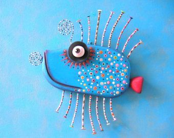 Golden Guppy MADE to ORDER Original Found Object Wall