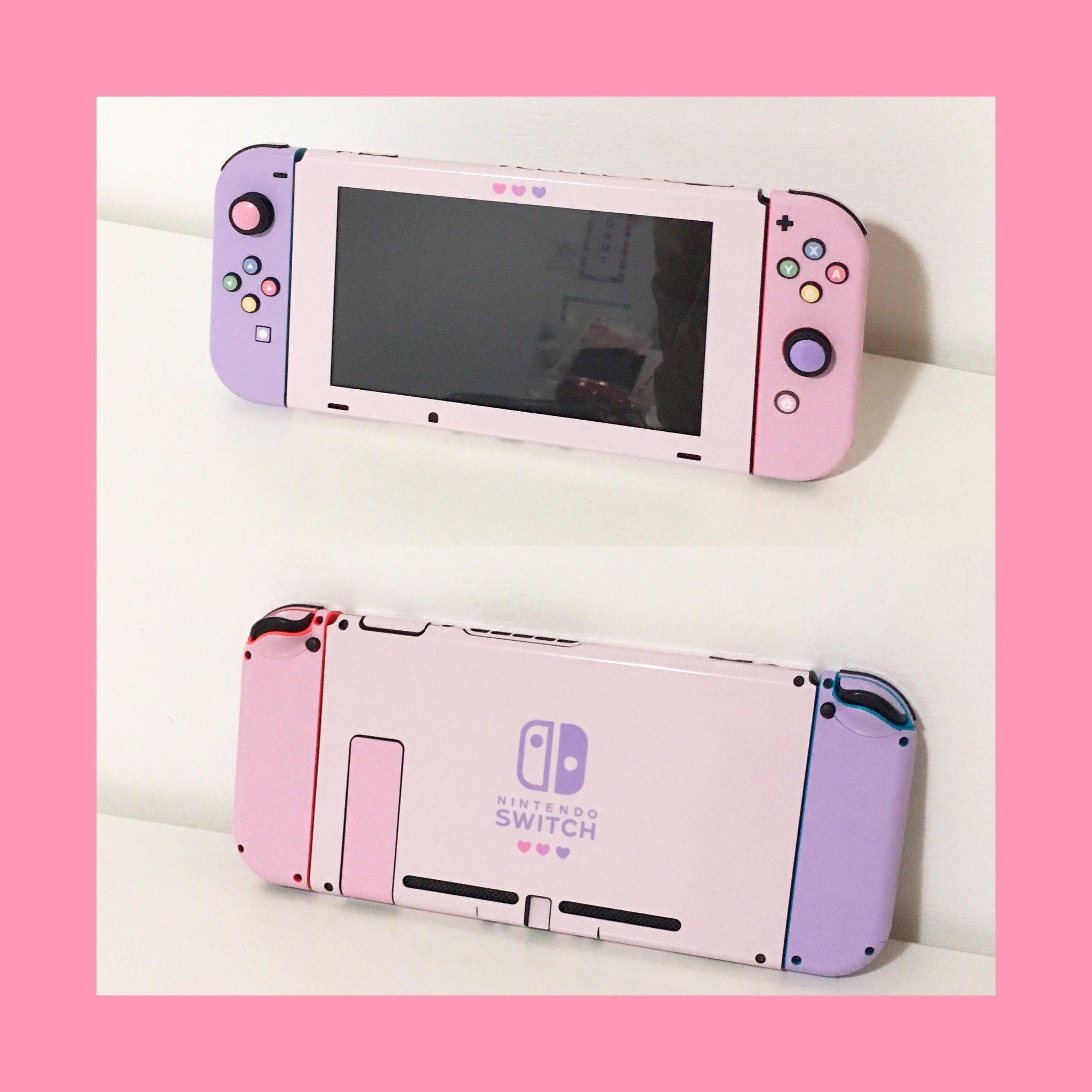 pastel nintendo switch / twitter @fommy__y | Kawaii | Gamer