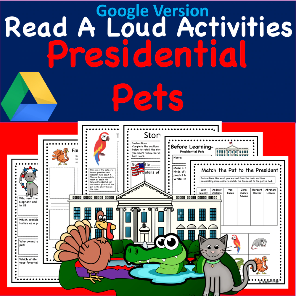 Digital Version Presidential Pets Virtual Read A Loud Usa Stories Creative Writing Activities Reading Process Student Activities [ 1000 x 1000 Pixel ]