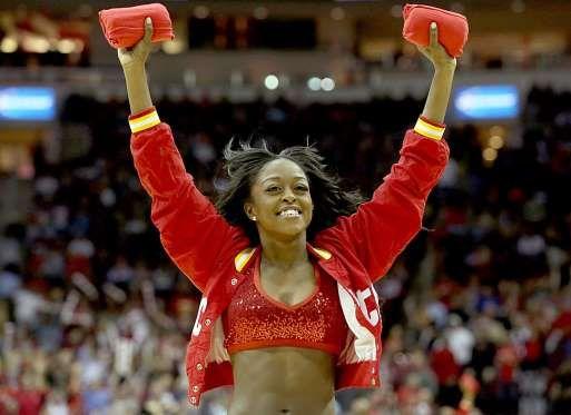 Houston Rockets power dancer - Thomas B. Shea/USA TODAY Sports