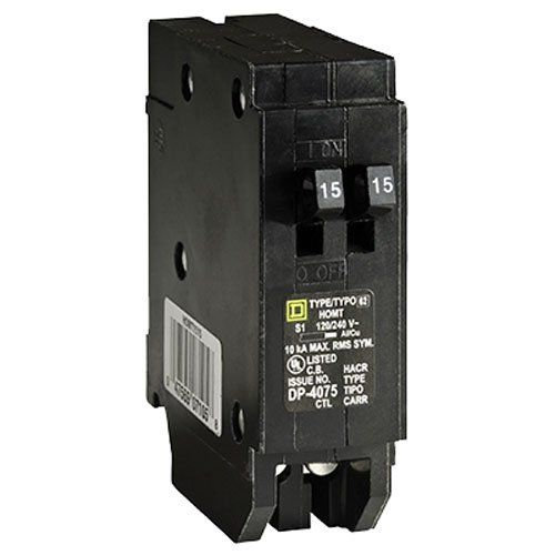 Square D By Schneider Electric Homt1515cp Homeline 2 15 Amp Single Pole Tandem Circuit Breaker Ad Homt151 With Images Breakers Electricity Contemporary Modern Furniture
