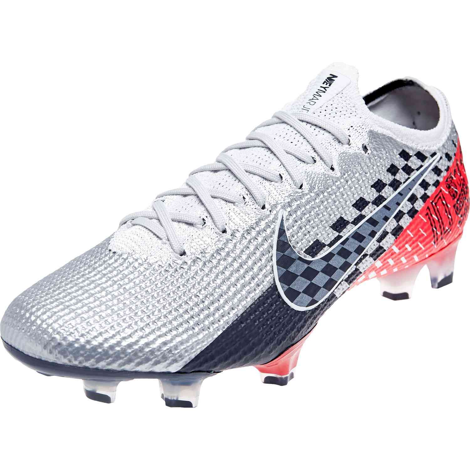 Nike Neymar Mercurial Vapor 13 Elite Fg Chrome Black Red Orbit Soccerpro Nike Soccer Shoes Adidas Soccer Shoes Soccer Cleats Nike
