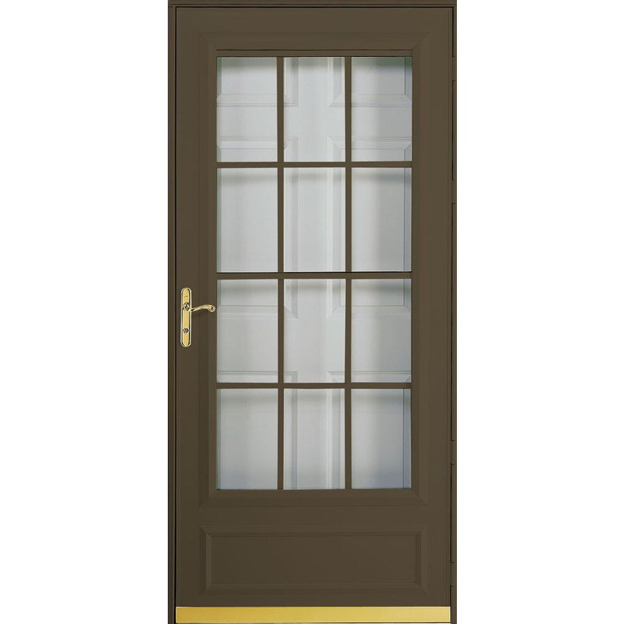 Pella Cheyenne Brown Mid View Safety Retractable Screen Storm Door Common 36 In X 81 Actual 37 80 67 At Lowes