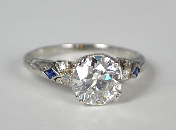 antique art deco engagement rings - Art Deco Wedding Rings