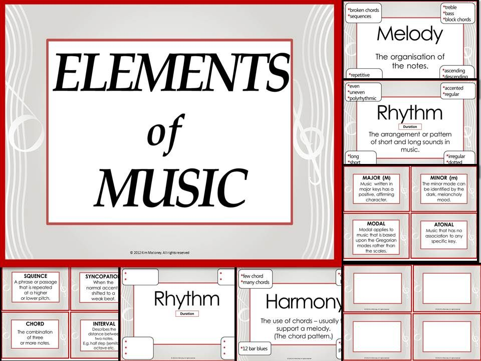 Elements of Music: Music Vocabulary - Anchor Charts and Worksheets ...