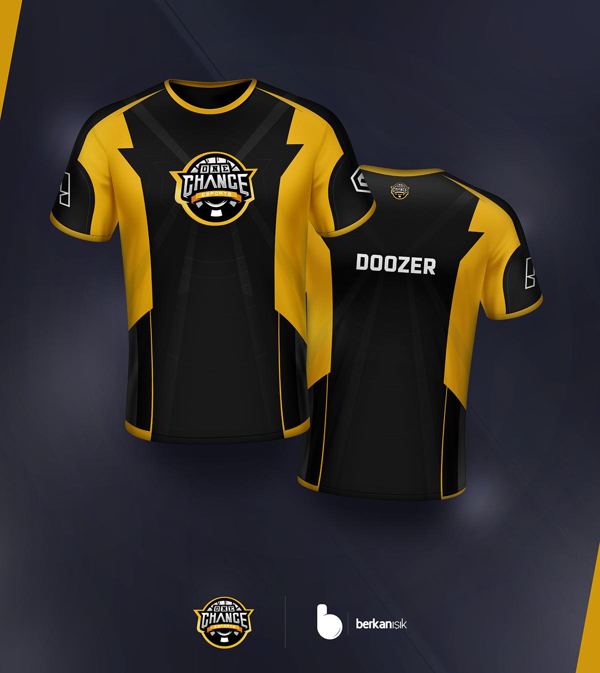Download Onechance Esports Jersey Design On Behance Jersey Design Sports Shirts Custom Polo Shirts